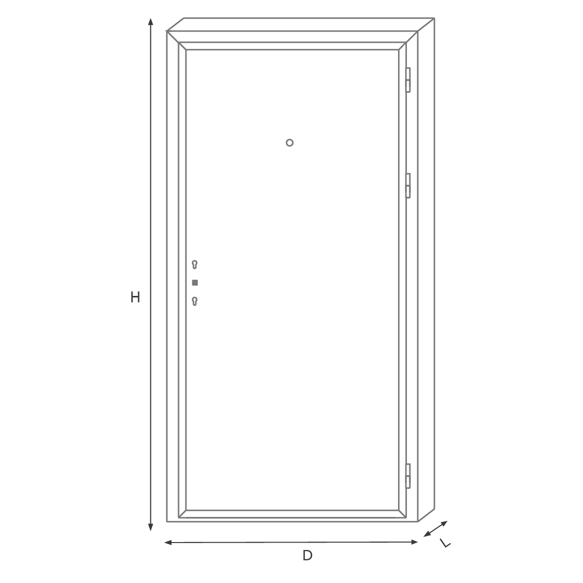 Deluxe apartment door MP one pair