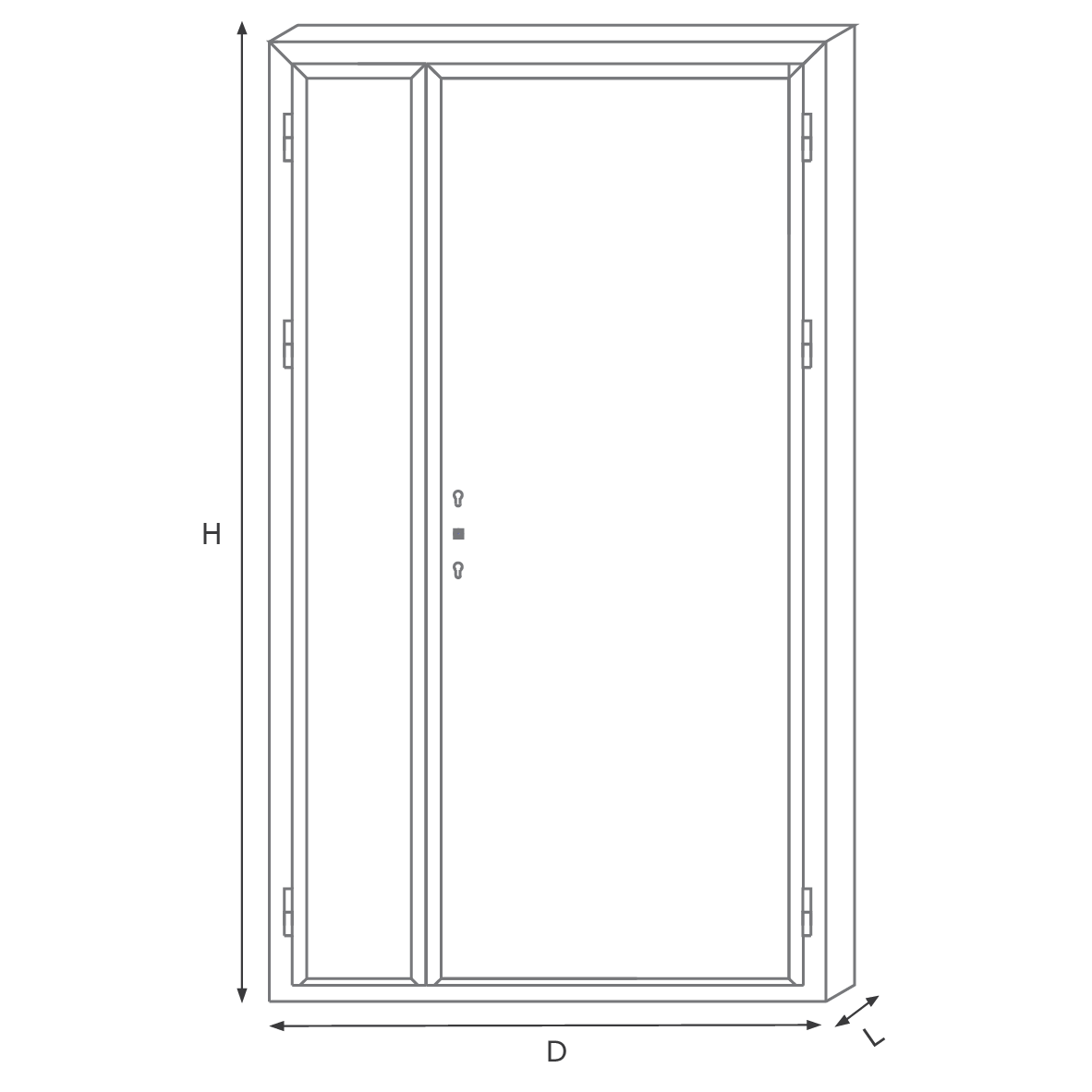 Deluxe apartment door MW one pair and half