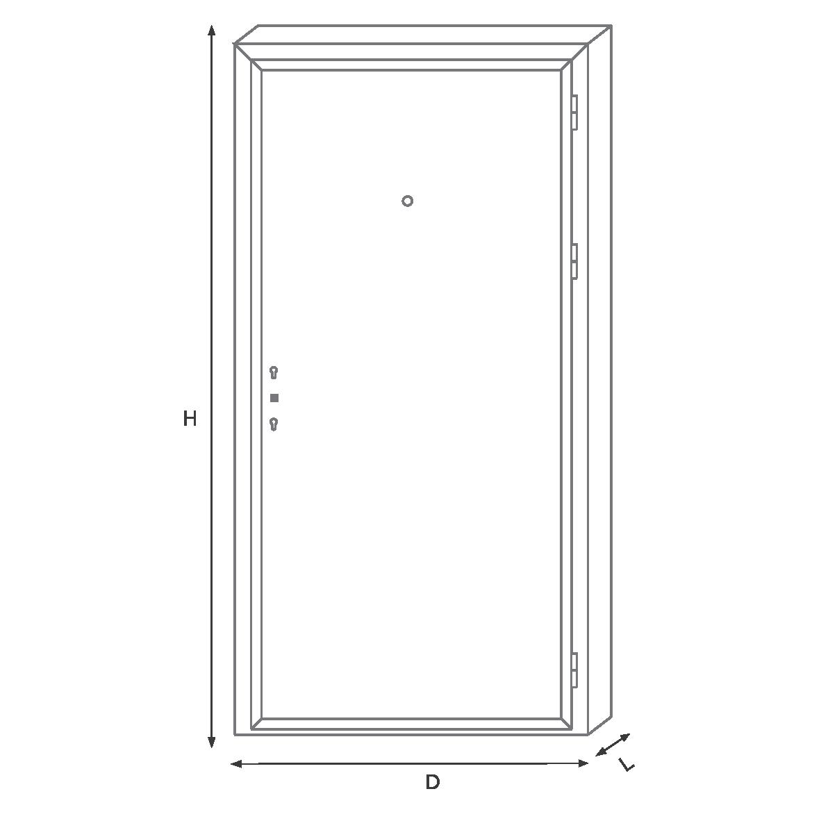 Дверь квартиры Делюкс MW