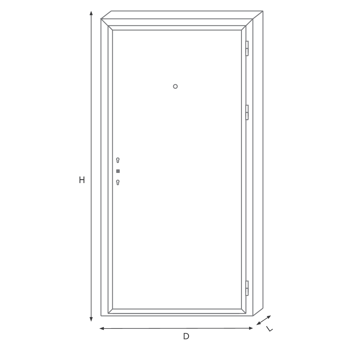 Deluxe apartment door WW one pair