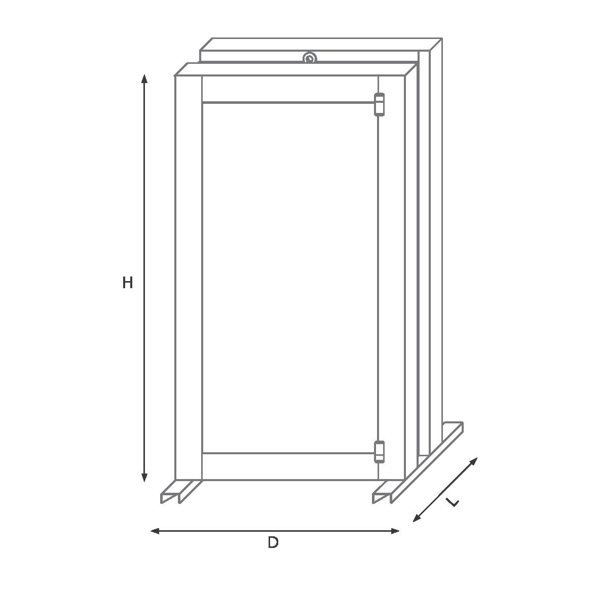 Тройная дверь 230VKR механический код