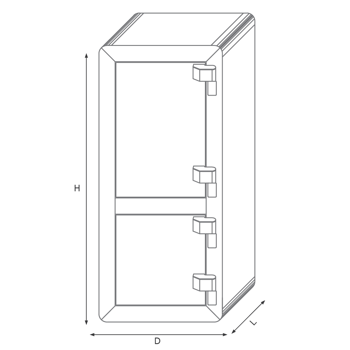 Two-story light safe 550DKR with a mechanical code